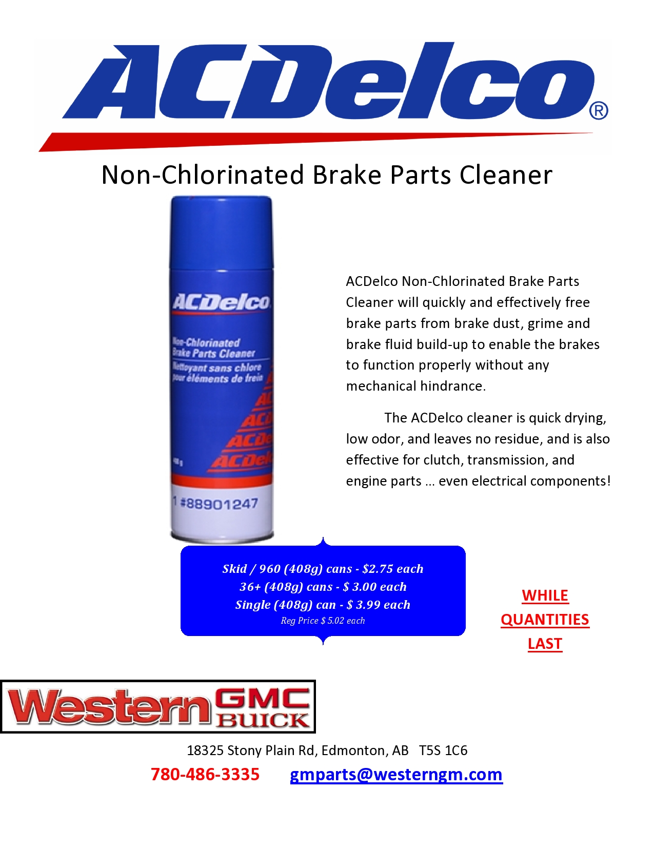 Non Chlorinated Brake Parts Cleaner